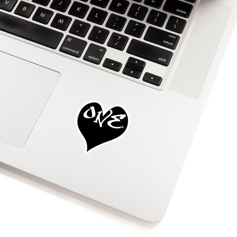 One Love - OG Black Heart Accessories Sticker by That5280Lady's Shop