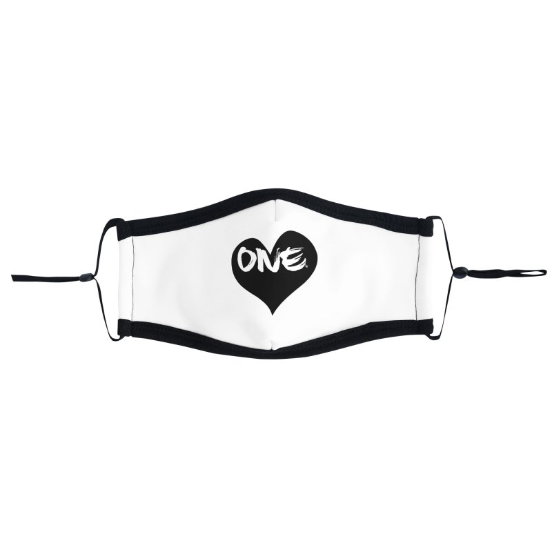 One Love - Black Heart 2.0 Accessories Face Mask by That5280Lady's Shop