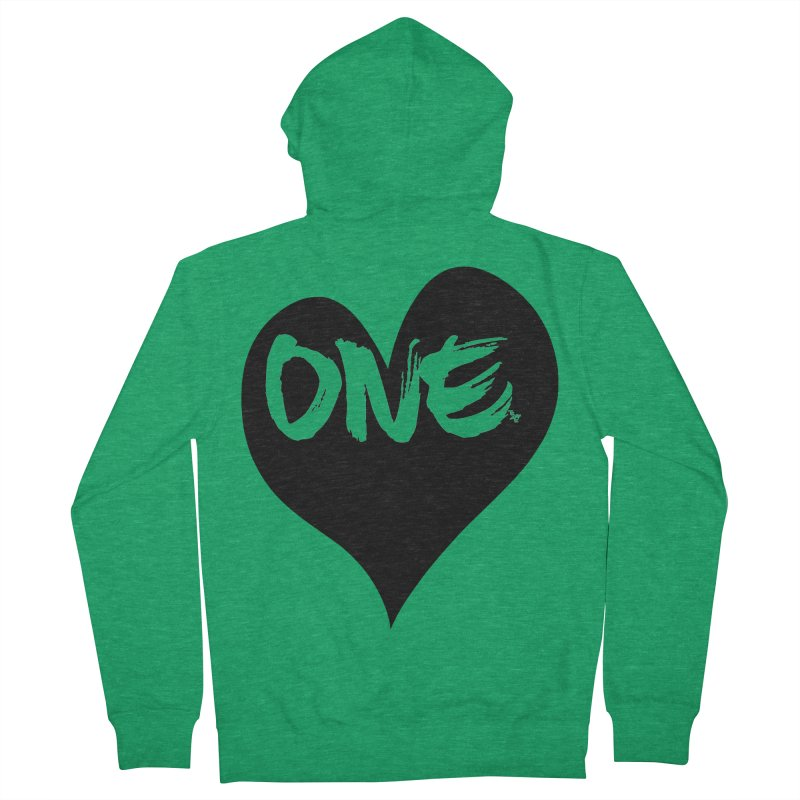 One Love - Black Heart 2.0 Men's Zip-Up Hoody by That5280Lady's Shop