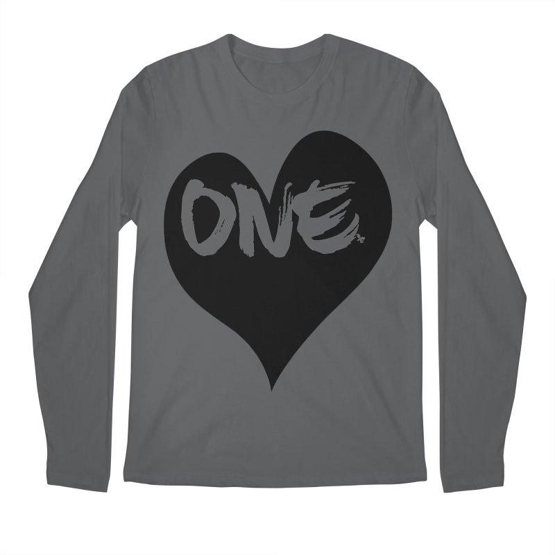 One Love - Black Heart 2.0 Men's Longsleeve T-Shirt by That5280Lady's Shop