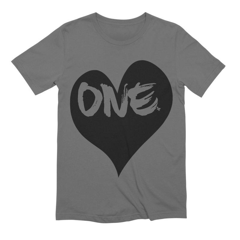 One Love - Black Heart 2.0 Men's T-Shirt by That5280Lady's Shop