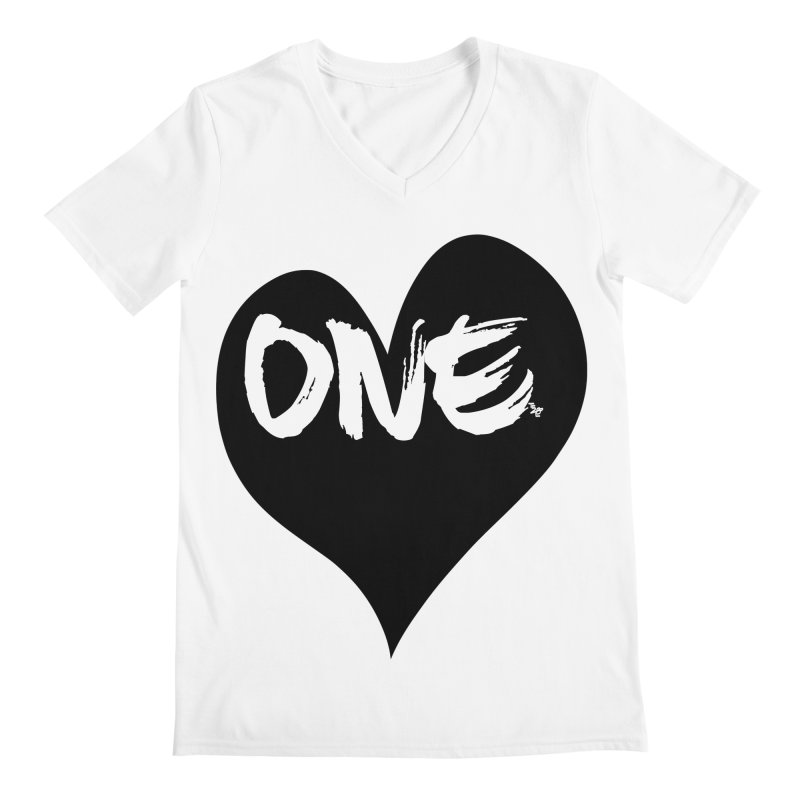 One Love - Black Heart 2.0 Men's V-Neck by That5280Lady's Shop