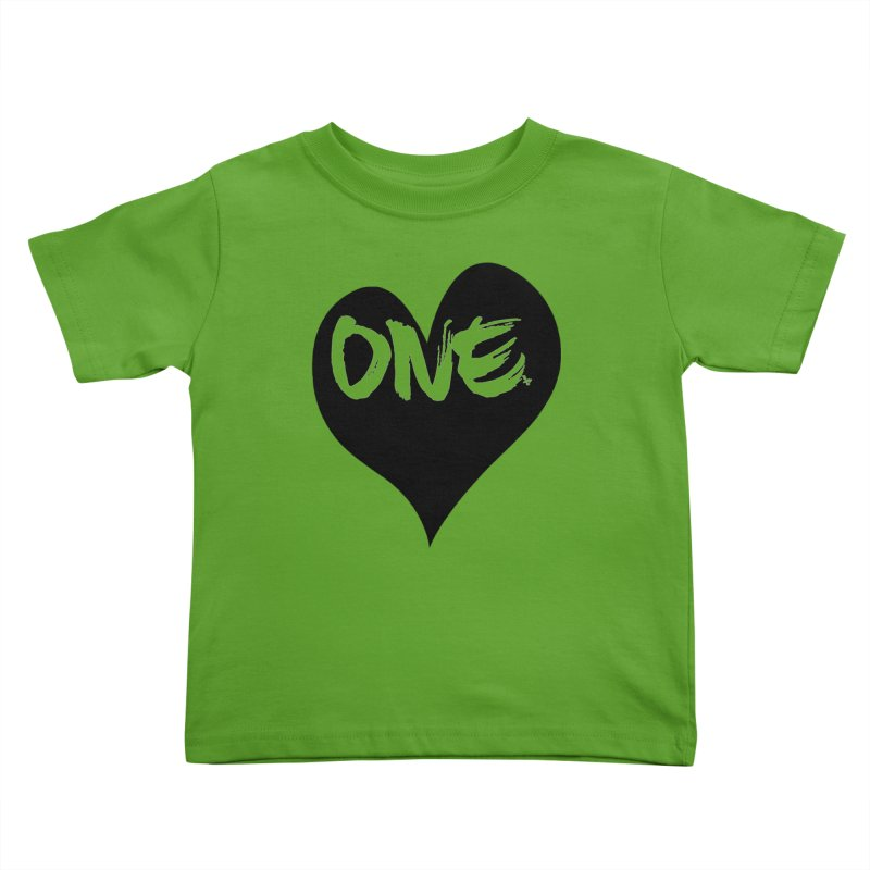 One Love - Black Heart 2.0 Kids Toddler T-Shirt by That5280Lady's Shop