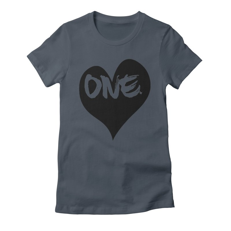 One Love - Black Heart 2.0 Women's T-Shirt by That5280Lady's Shop