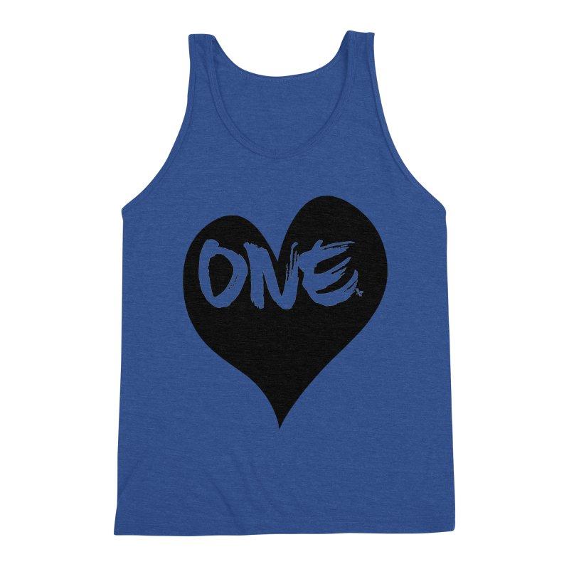 One Love - Black Heart 2.0 Men's Tank by That5280Lady's Shop