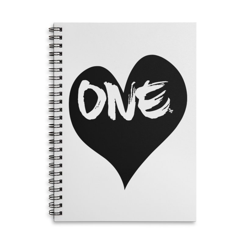 One Love - Black Heart 2.0 Accessories Notebook by That5280Lady's Shop