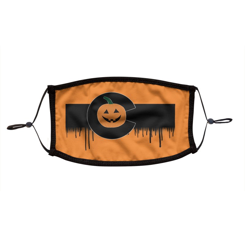 Happy Colo-ween Flag Drippy Accessories Face Mask by That5280Lady's Shop