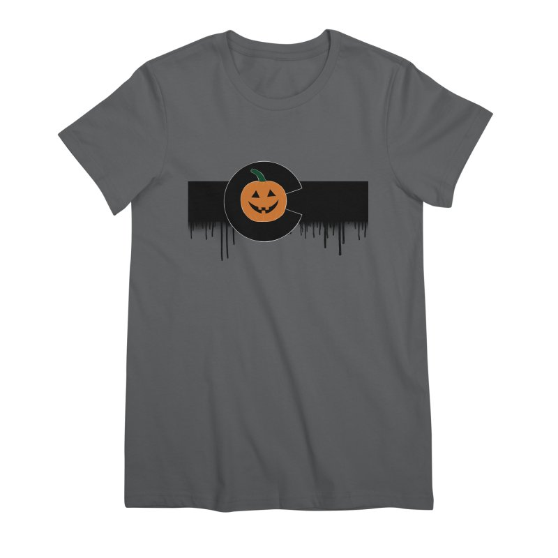 Happy Colo-ween Flag Drippy Women's T-Shirt by That5280Lady's Shop