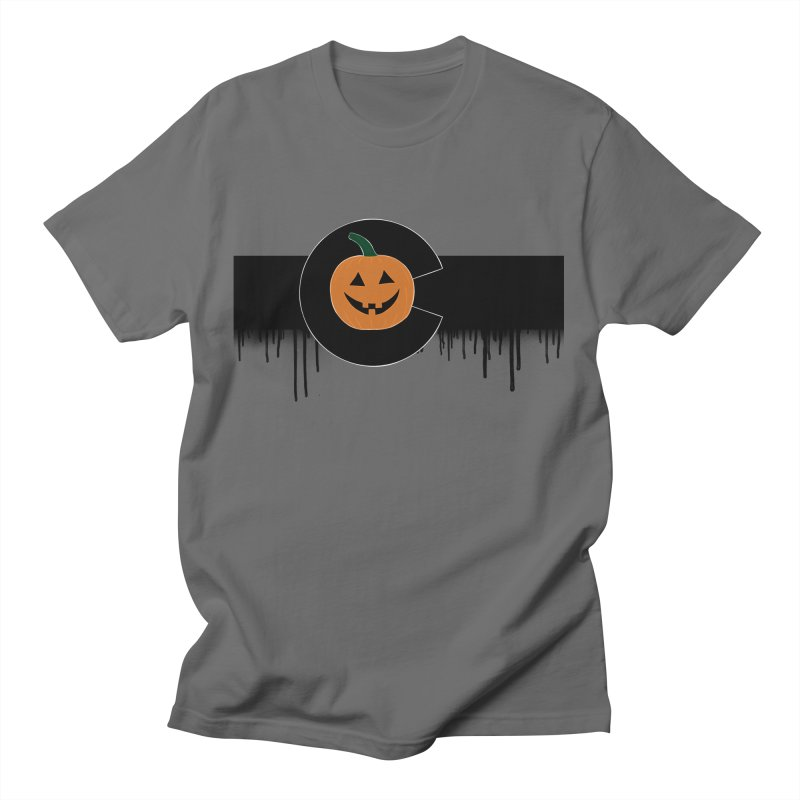 Happy Colo-ween Flag Drippy Men's T-Shirt by That5280Lady's Shop