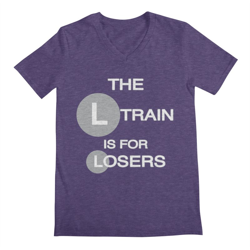 L Train Men's V-Neck by Shirts That Never Happened