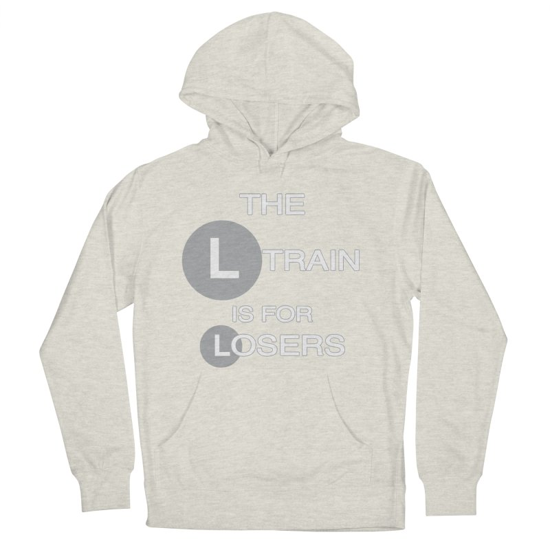 L Train Men's French Terry Pullover Hoody by Shirts That Never Happened