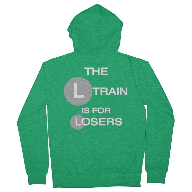 L Train Men's French Terry Zip-Up Hoody by Shirts That Never Happened