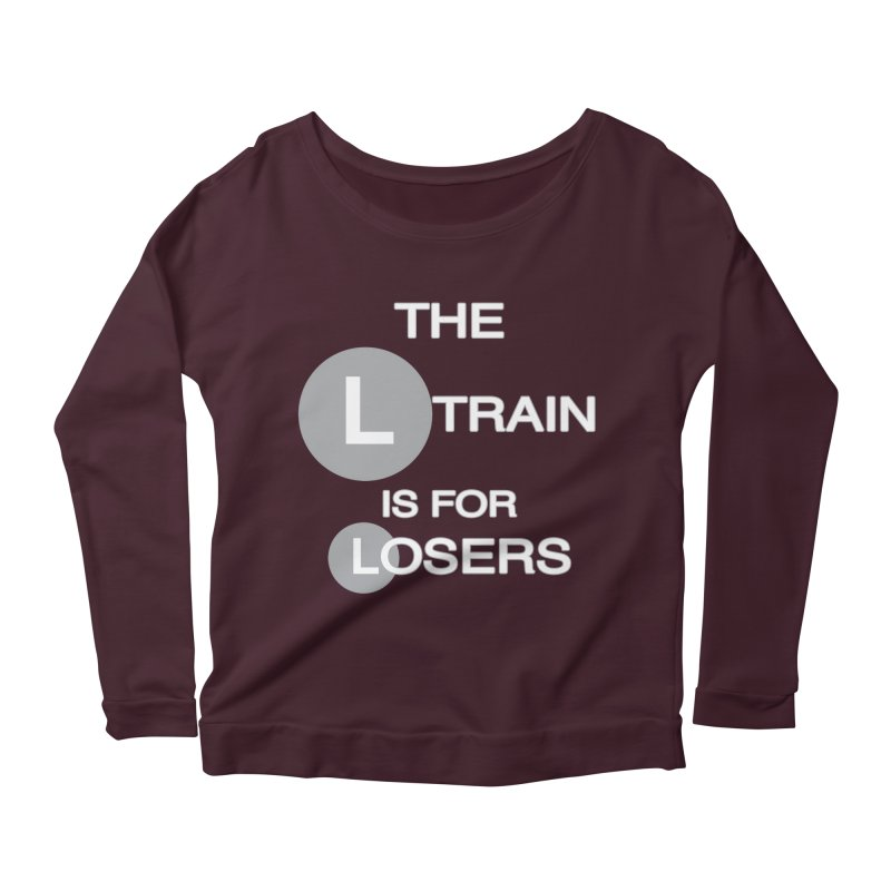 L Train Women's Longsleeve Scoopneck  by Shirts That Never Happened