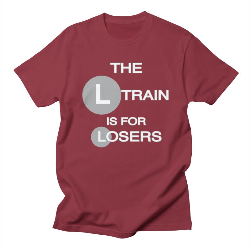 L Train Men's Regular T-Shirt by Shirts That Never Happened