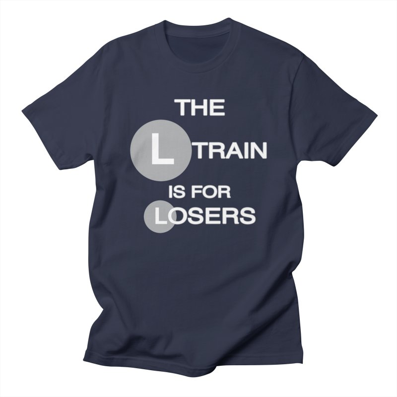 L Train Men's Regular T-Shirt by Shirts That Never Happened