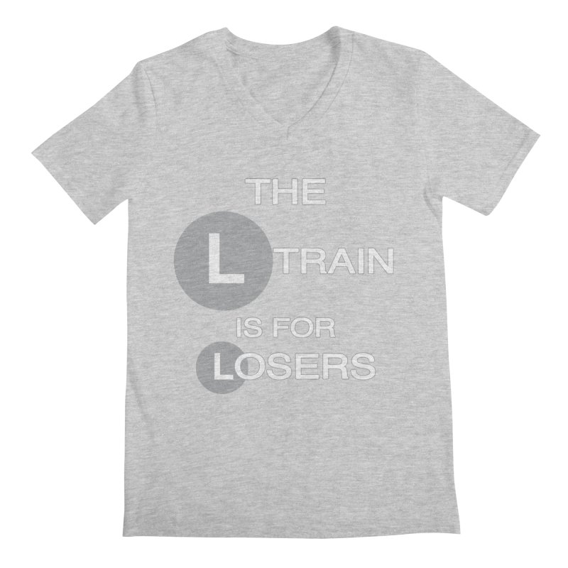 L Train Men's Regular V-Neck by Shirts That Never Happened