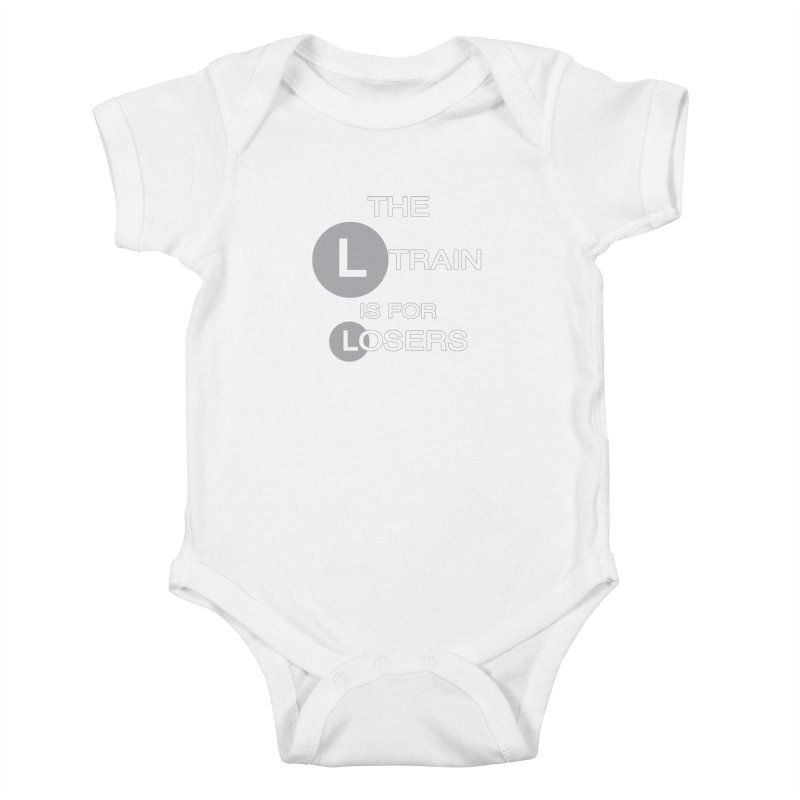L Train Kids Baby Bodysuit by Shirts That Never Happened