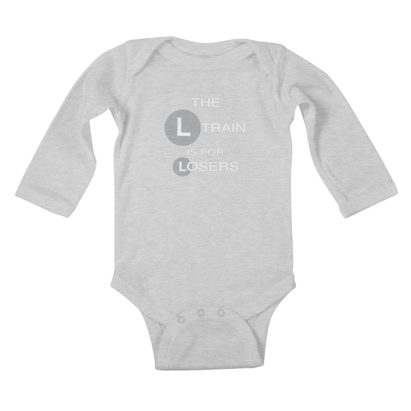 L Train Kids Baby Longsleeve Bodysuit by Shirts That Never Happened