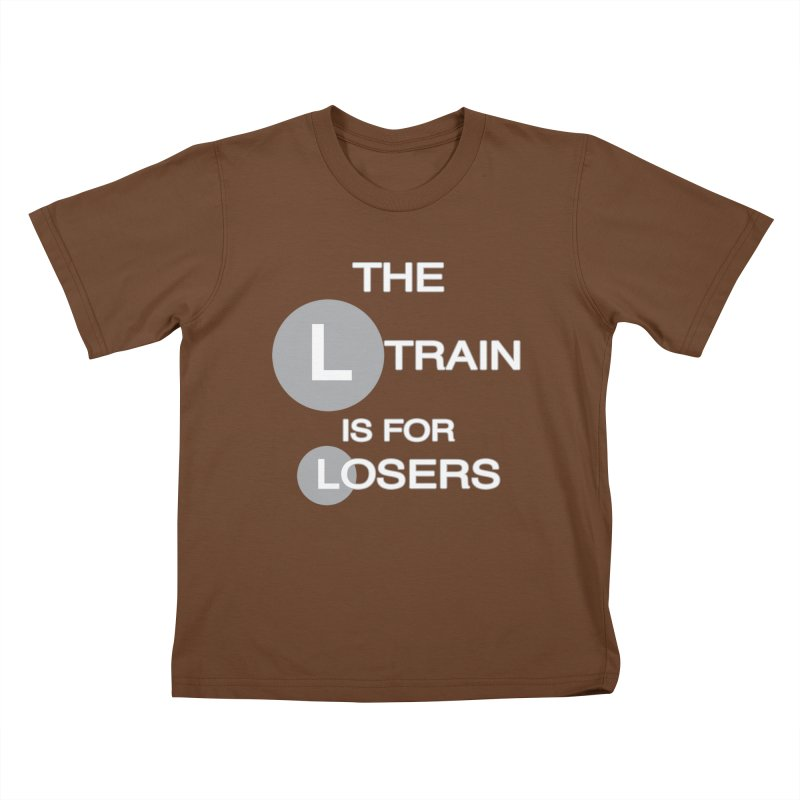 L Train Kids T-Shirt by Shirts That Never Happened