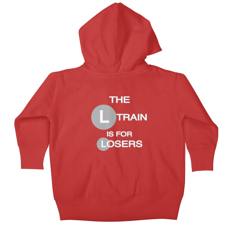L Train Kids Baby Zip-Up Hoody by Shirts That Never Happened