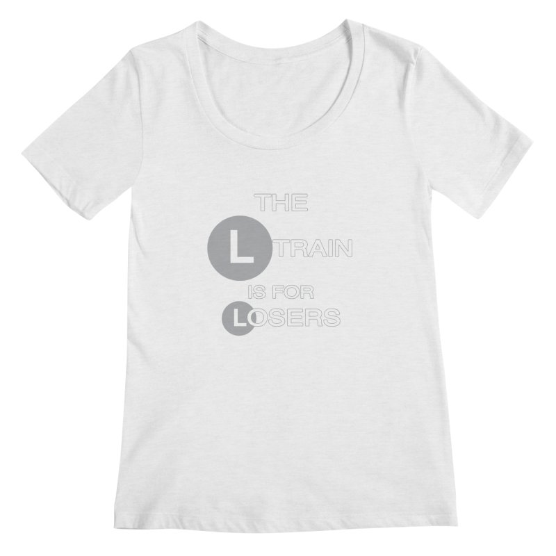 L Train Women's Regular Scoop Neck by Shirts That Never Happened