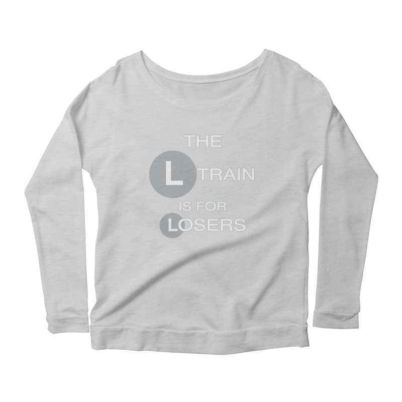 L Train Women's Scoop Neck Longsleeve T-Shirt by Shirts That Never Happened
