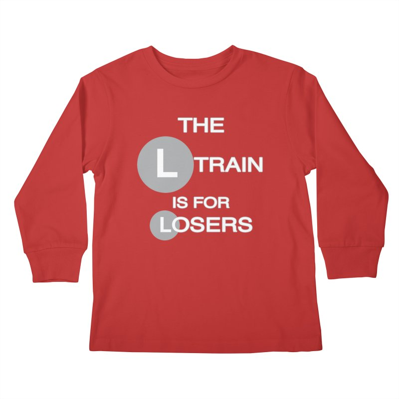 L Train Kids Longsleeve T-Shirt by Shirts That Never Happened
