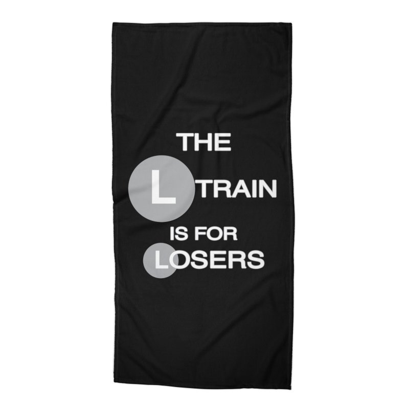 L Train Accessories Beach Towel by Shirts That Never Happened