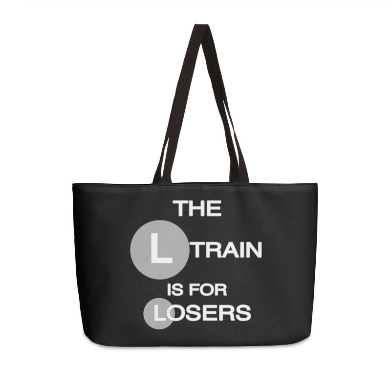 L Train Accessories Weekender Bag Bag by Shirts That Never Happened