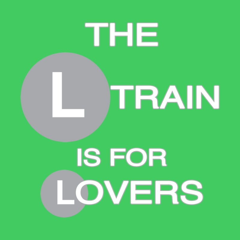 The L Train is for Lovers Men's V-Neck by Shirts That Never Happened