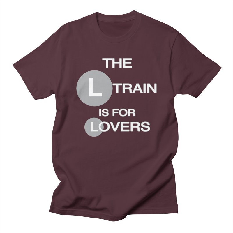 The L Train is for Lovers Men's Regular T-Shirt by Shirts That Never Happened