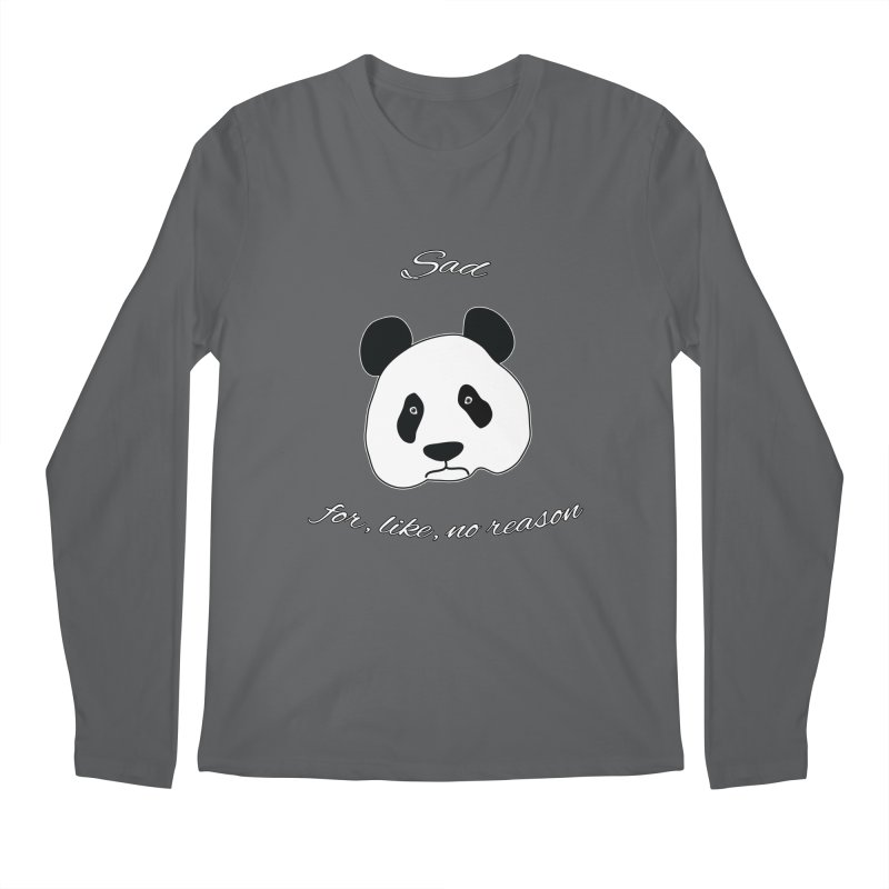 Sad Panda Men's Longsleeve T-Shirt by Shirts That Never Happened