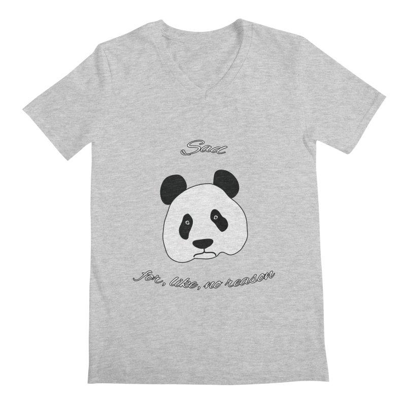 Sad Panda Men's V-Neck by Shirts That Never Happened