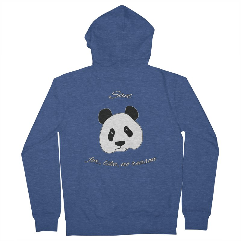 Sad Panda Women's French Terry Zip-Up Hoody by Shirts That Never Happened