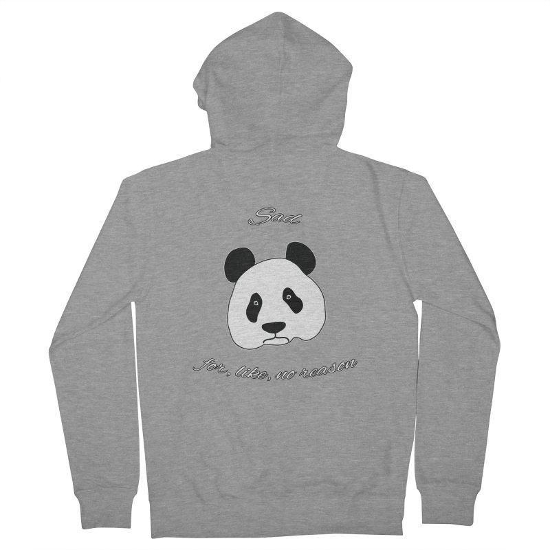 Sad Panda Women's Zip-Up Hoody by Shirts That Never Happened