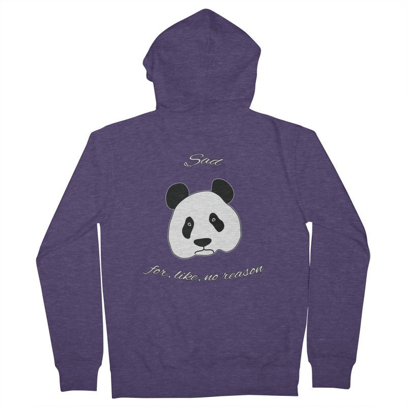 Sad Panda Men's French Terry Zip-Up Hoody by Shirts That Never Happened