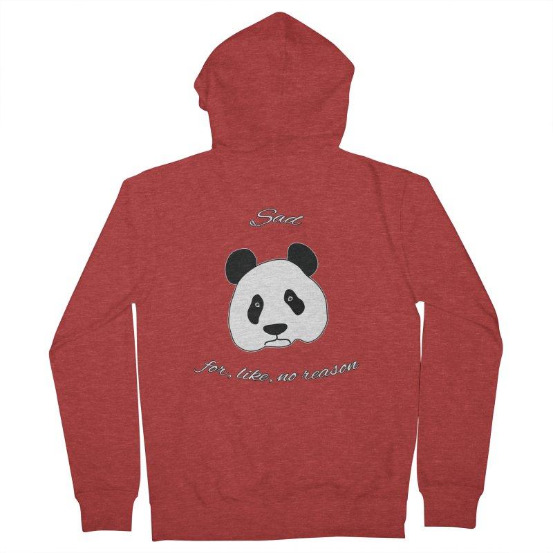 Sad Panda Men's Zip-Up Hoody by Shirts That Never Happened