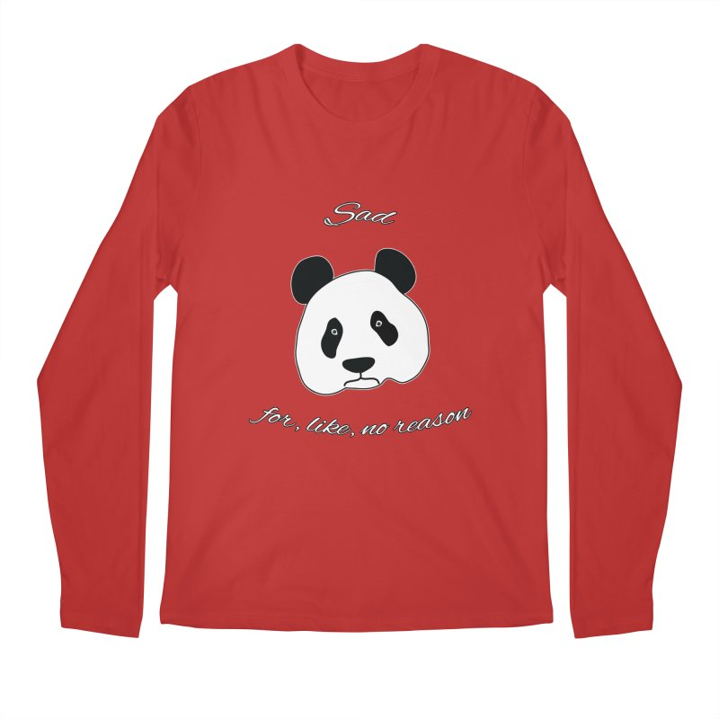 Sad Panda Men's Regular Longsleeve T-Shirt by Shirts That Never Happened