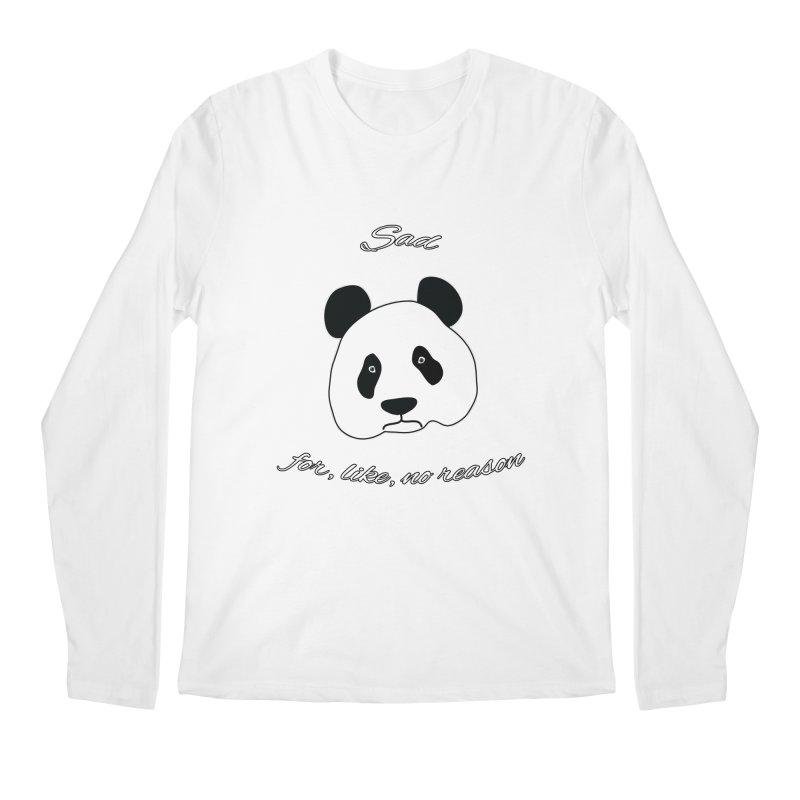 Sad Panda Men's Regular Longsleeve T-Shirt by Shirts That Never Happened