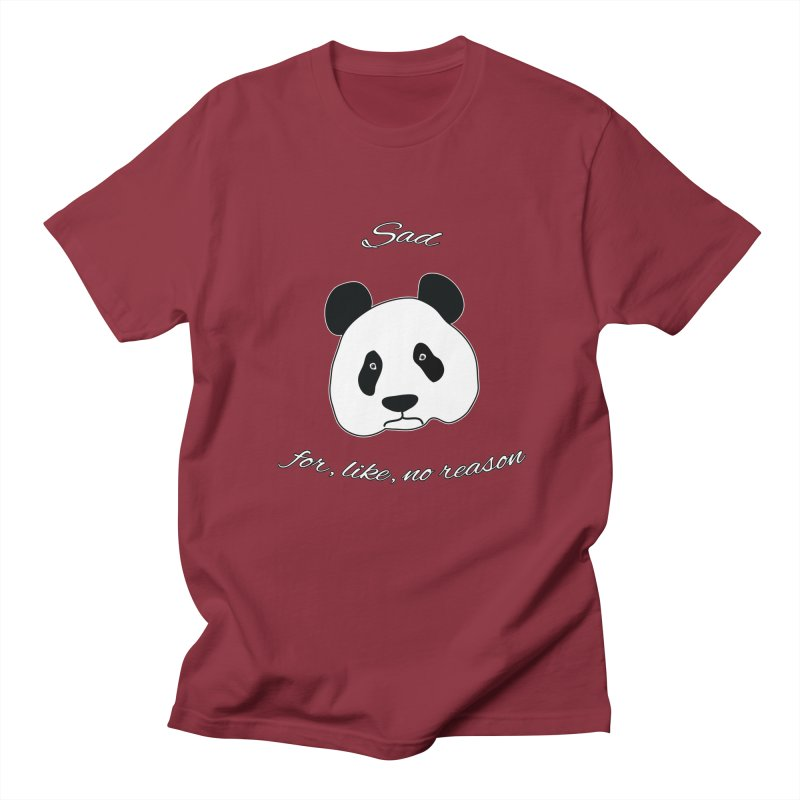 Sad Panda Women's Unisex T-Shirt by Shirts That Never Happened