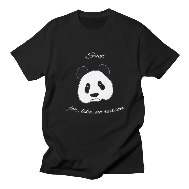 Sad Panda Women's Regular Unisex T-Shirt by Shirts That Never Happened