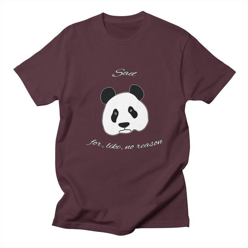 Sad Panda Men's Regular T-Shirt by Shirts That Never Happened