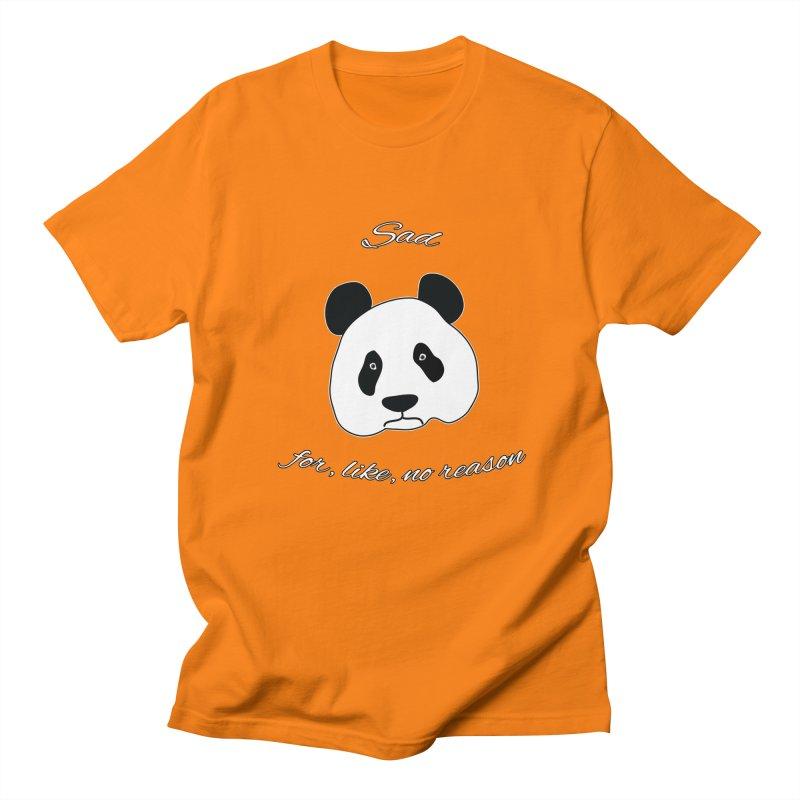 Sad Panda Women's Regular Unisex T-Shirt by Shirts That Never Happened