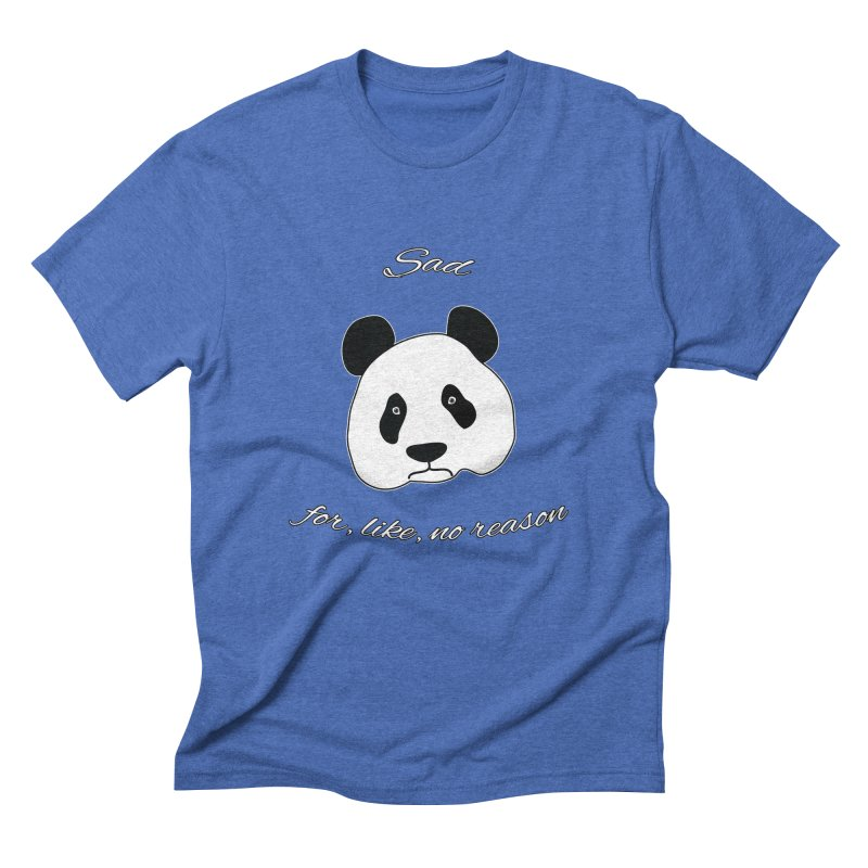 Sad Panda Men's Triblend T-Shirt by Shirts That Never Happened