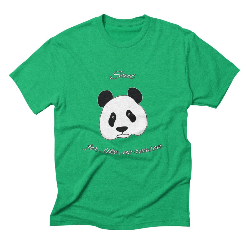 Sad Panda Men's Triblend T-Shirt by Shirts That Never Happened
