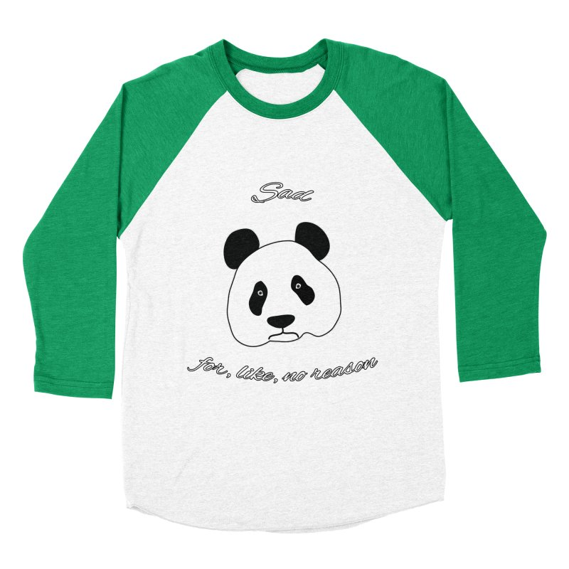 Sad Panda Women's Baseball Triblend Longsleeve T-Shirt by Shirts That Never Happened