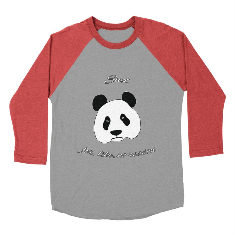 Sad Panda Women's Baseball Triblend T-Shirt by Shirts That Never Happened