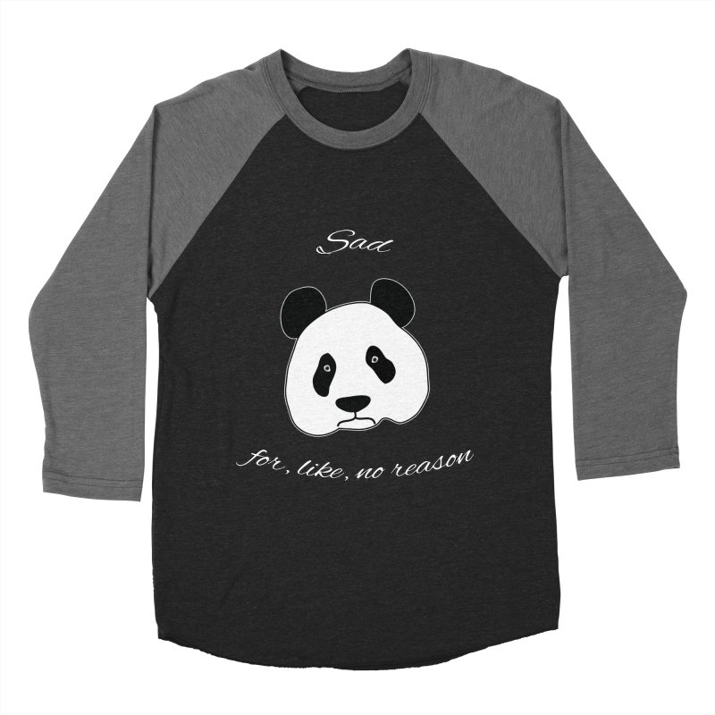 Sad Panda Men's Baseball Triblend Longsleeve T-Shirt by Shirts That Never Happened