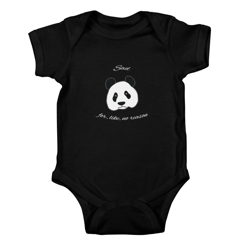 Sad Panda Kids Baby Bodysuit by Shirts That Never Happened
