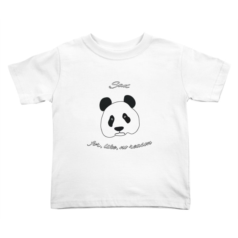 Sad Panda Kids Toddler T-Shirt by Shirts That Never Happened